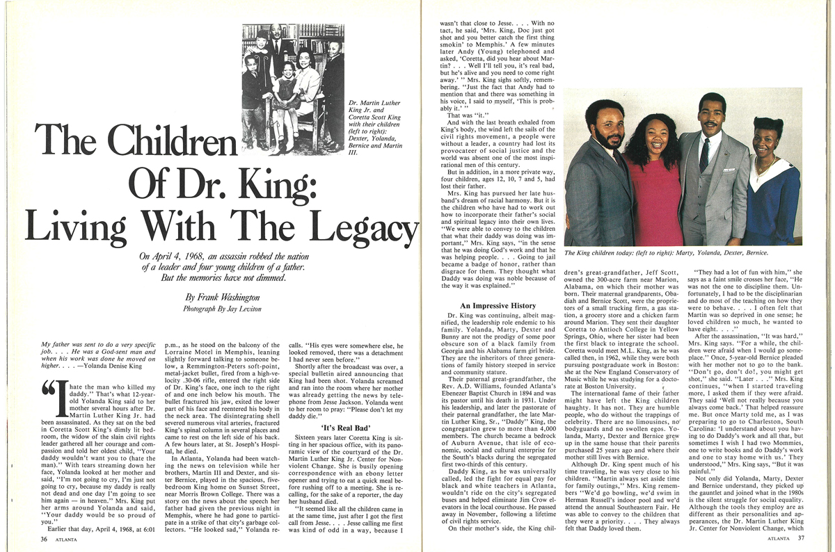 Living with the Legacy Martin Luther King Children 1985