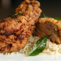 Kerala-style fried chicken at Cardamom Hill
