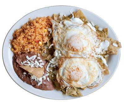 LA KERMEX RESTAURANTE MEXICANO. The true glory of this colorful cantina's morning kitchen is the chilaquiles, a casserole of tortilla triangles softened in red or green salsa. Whether served basic or topped with eggs, chicken, or beef, the dish is revved with queso fresco, onions, and avocado. On weekends, fantastically piquant menudo (a soup simmered with beef stomach and feet that is a traditional hangover cure) appears on the menu. Opens daily at 7:30 a.m. 5000 Buford Highway, Chamblee, 770-454-9964