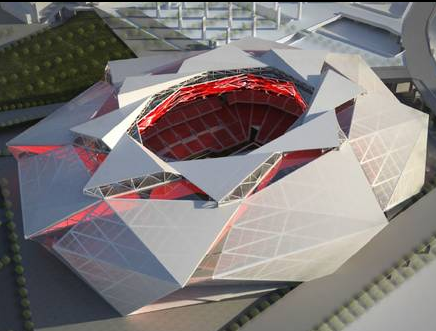Falcons stadium rendering