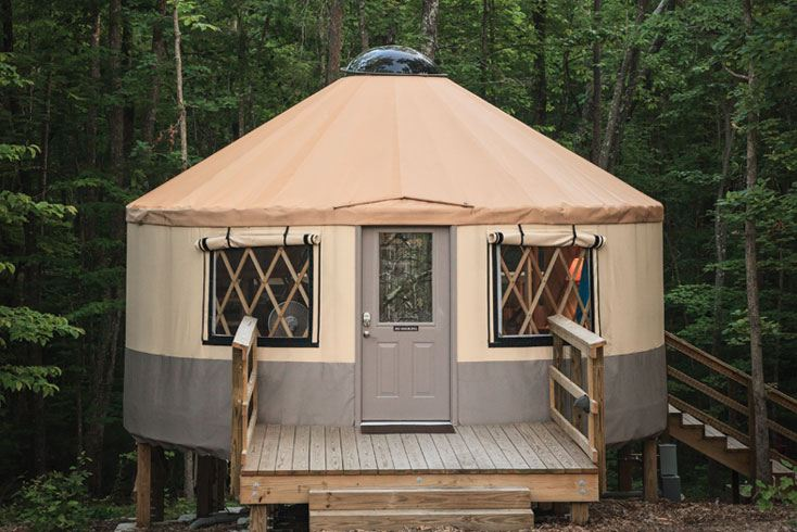 A yurt at Cloudland Canyon State Park