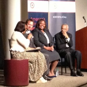 Bernice King, Doug Shipman, Dione Simon, and C.T. Vivian discuss education and civil rights at the Carter Center