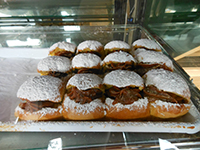 Mantequillas, an Uruguayan pastry filled with dulce de leche
