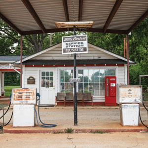 Billy Carter's Service Station in Plains