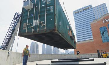 Atlantic Station's opening a ginormous haunted house made of shipping containers
