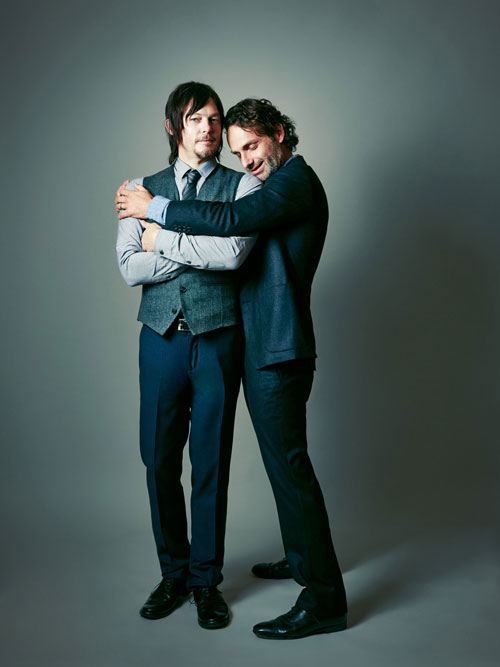 Outtakes From Andrew Lincoln And Norman Reedus Cover Photo Shoot