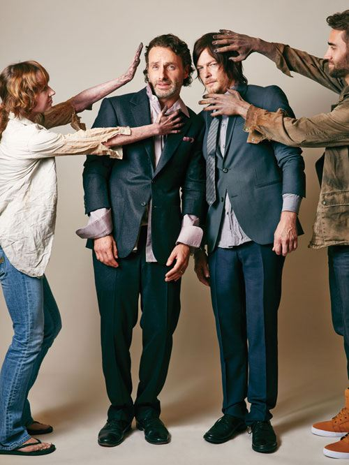 Outtakes From Andrew Lincoln And Norman Reedus Cover Photo
