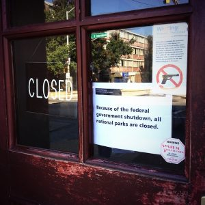 A sign on the door of historic Firestation 6