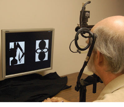 The Neurotrack test uses eye-tracking to detect Alzheimer's disease symptoms.