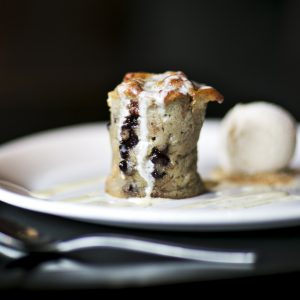 Banana and chocolate chip bread pudding