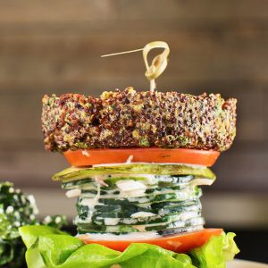 """Inside out"" quinoa burger, True Food Kitchen, $12"
