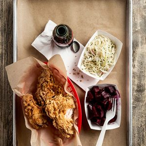 Fried chicken from Star Provisions. Scroll down for a gallery of scrumptious side dishes.