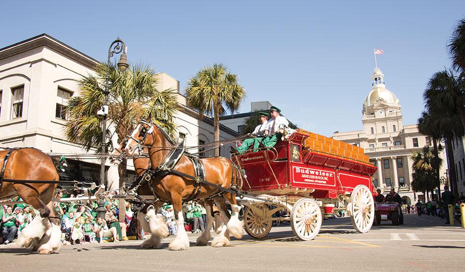 St. Patrick's Day parade in Savannah