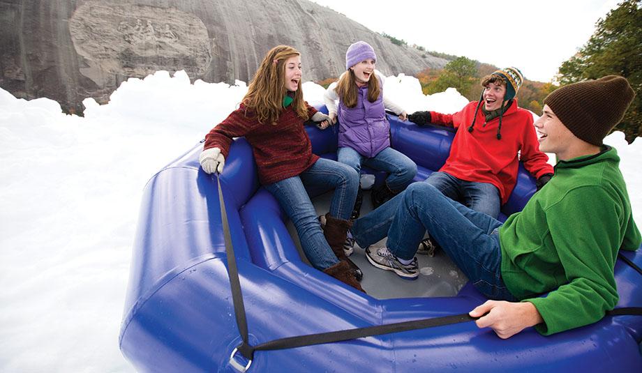 Stone Mountain Park's 400-Foot Snow Mountain