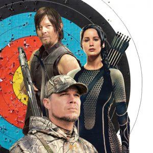 Bullseye: Istockphoto.com; Jones: Sportsman Channel; Katniss: Lionsgate; Daryl: Frank Ockenfels 3/AMC