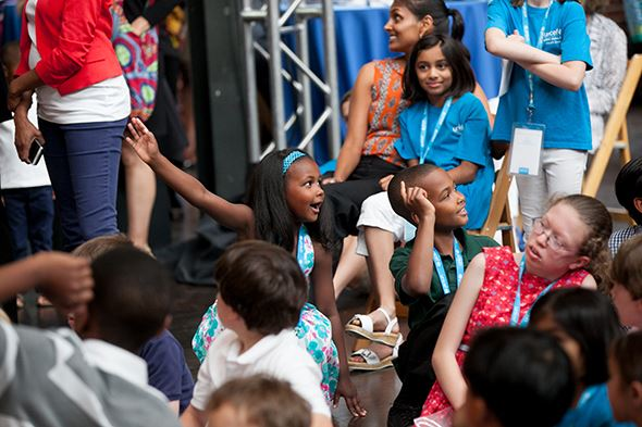 Children at the UNICEF Experience