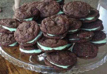 Jimella's mint cookie sandwiches