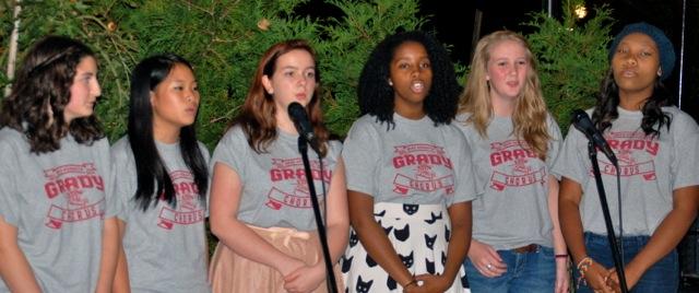 Grady chorus students sing at MetroFresh Cabaret Night