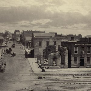 Peachtree Street 1866: A saloon was built, a bank lay in ruins