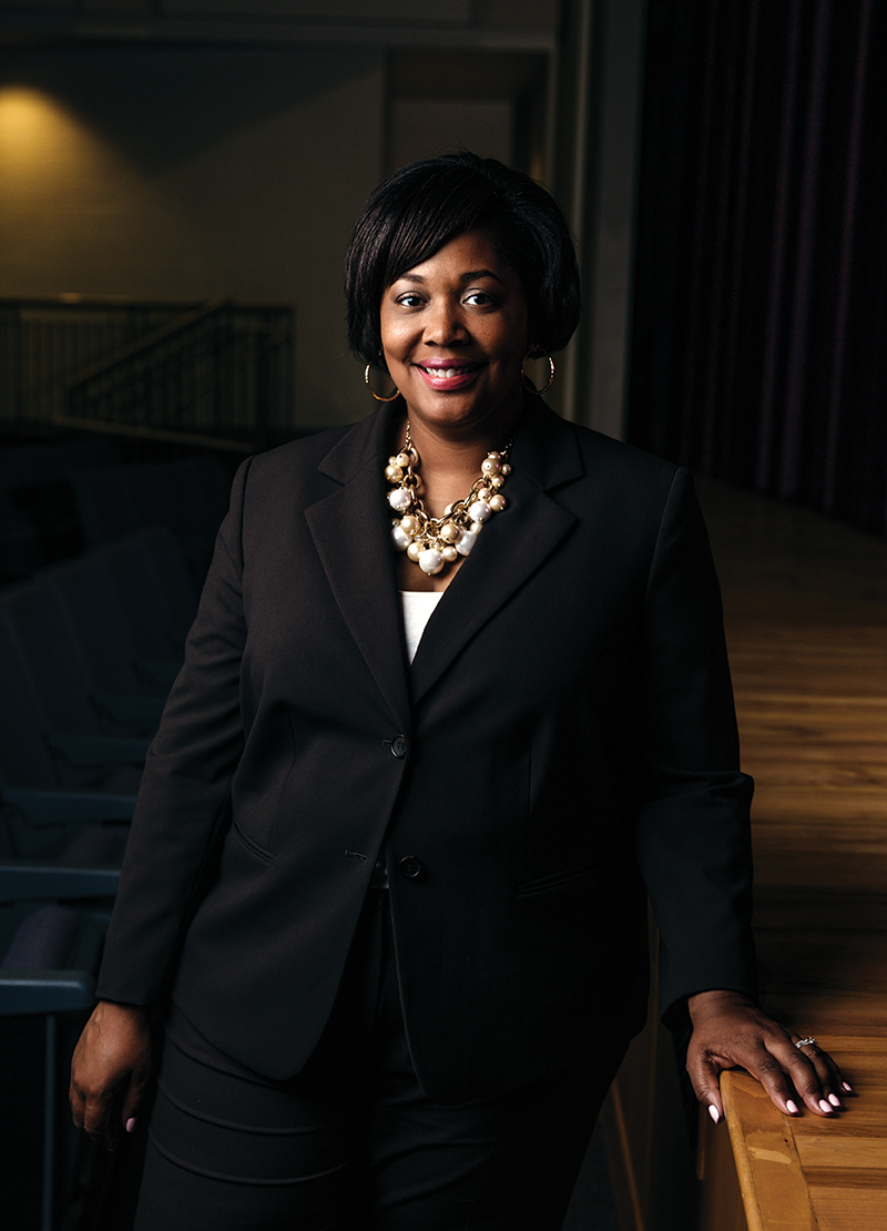 """When boys are absent, """"we see confidence to speak up,"""" says Principal Termerion McCrary Lakes"""