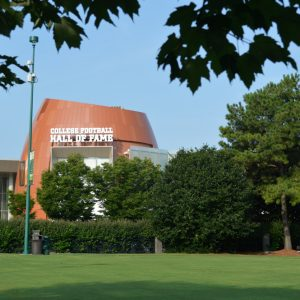 The College Football Hall of Fame, formerly of South Bend, Indiana, is set to open next to Atlanta's Centennial Olympic Park on August 23.