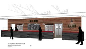 A rendering of Grand Champion BBQ's Krog Street Market stall