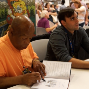 John Lewis and Andrew Aydin sign books at Dragon Con 2014.