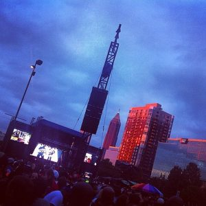 Downtown Atlanta provided a dramatic backdrop for the weekend concerts.