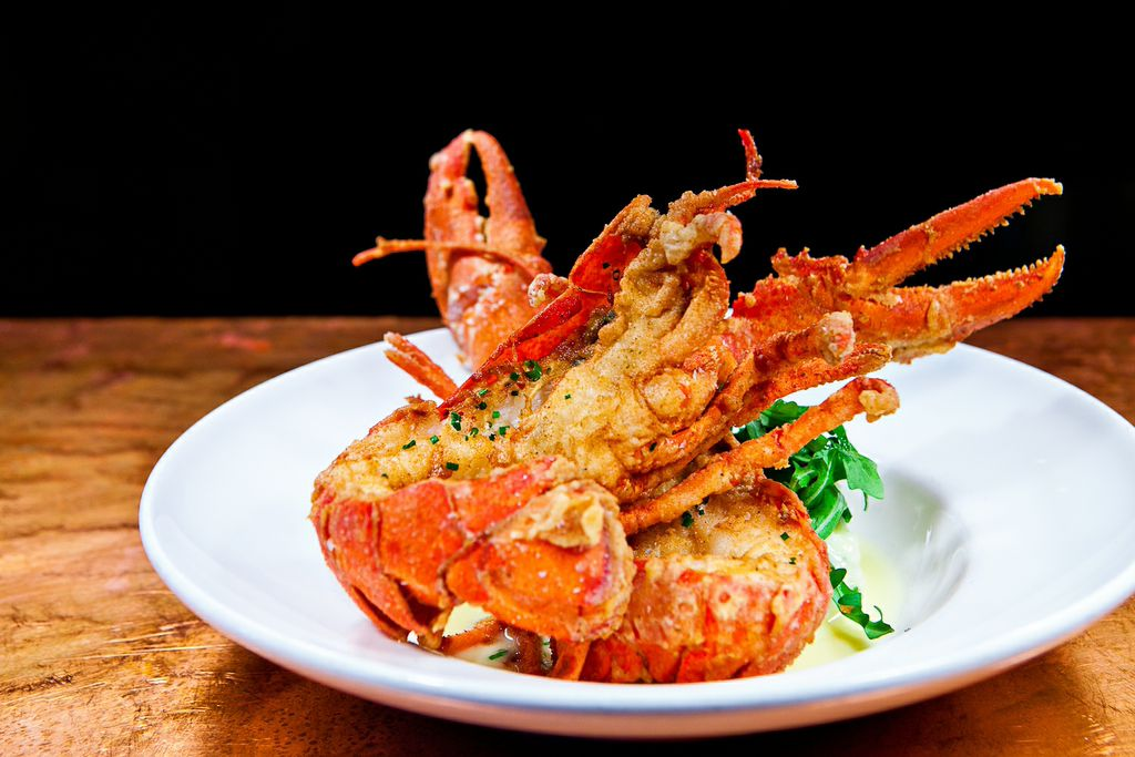 Whole fired lobster