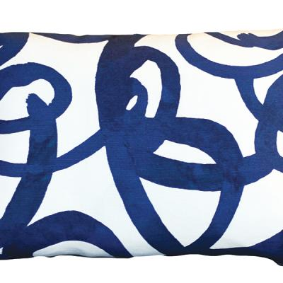 Steve Mckenzie's Loop Linen pillow in indigo, $169, stevemckenzies.com