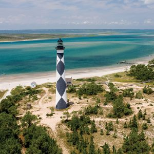Cape Lookout's lighthouse dates to 1859.