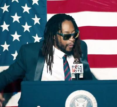 Atlanta rapper Lil Jon in a 2014 Rock the Vote ad.