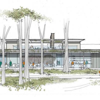 A rendering of Linton's in the Garden