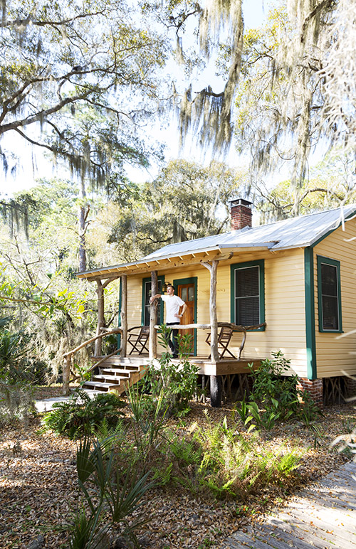 The one-bedroom Tom House is quaint and private for a couple.