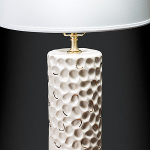 Honeycomb Studio now offers three styles of lamp bases, including this one, for $635.