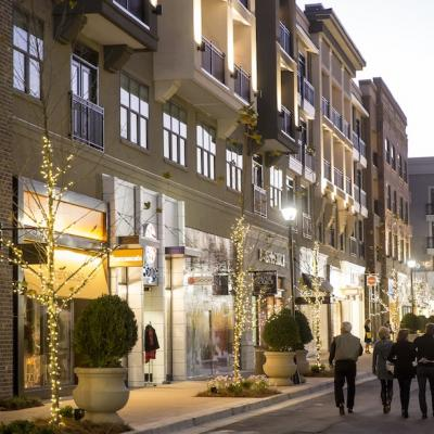 The new streetscape at Avalon