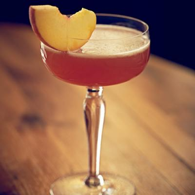 Peach Cardinal, made with Southern Artisan Spirit's Cardinal Gin.
