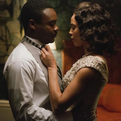 David Oyelowo plays Martin Luther King, Jr. and Carmen Ejogo plays Coretta Scott King in Selma.