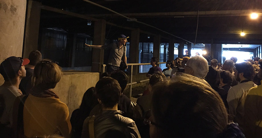 Jeff Morrison leads tour-goers below the surface streets of Atlanta