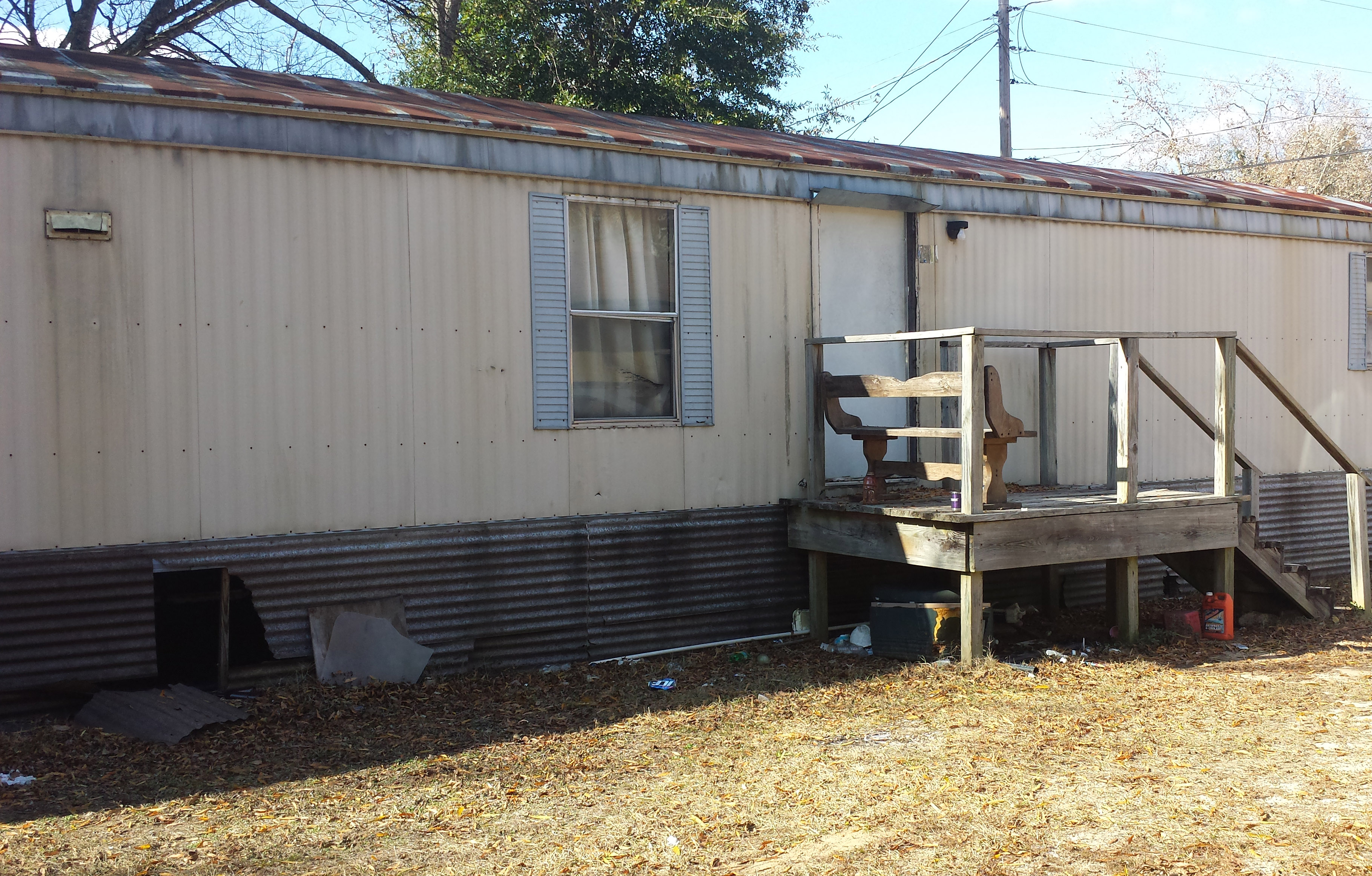 My Aunt Sarah lived in this trailer for over 20 years before she passed away in 2006.