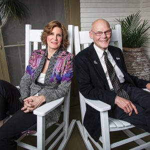 Political odd couple Mary Matalin and James Carville  call a truce in their adopted hometown.