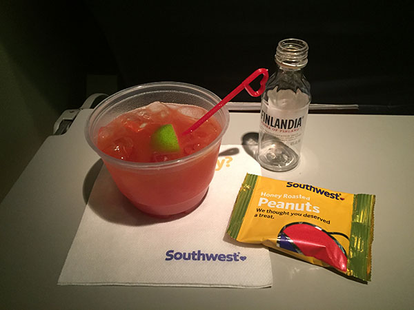 Southwest Airlines gives away free drinks on New Years' Day, Valentine's Day, and St. Patrick's Day.