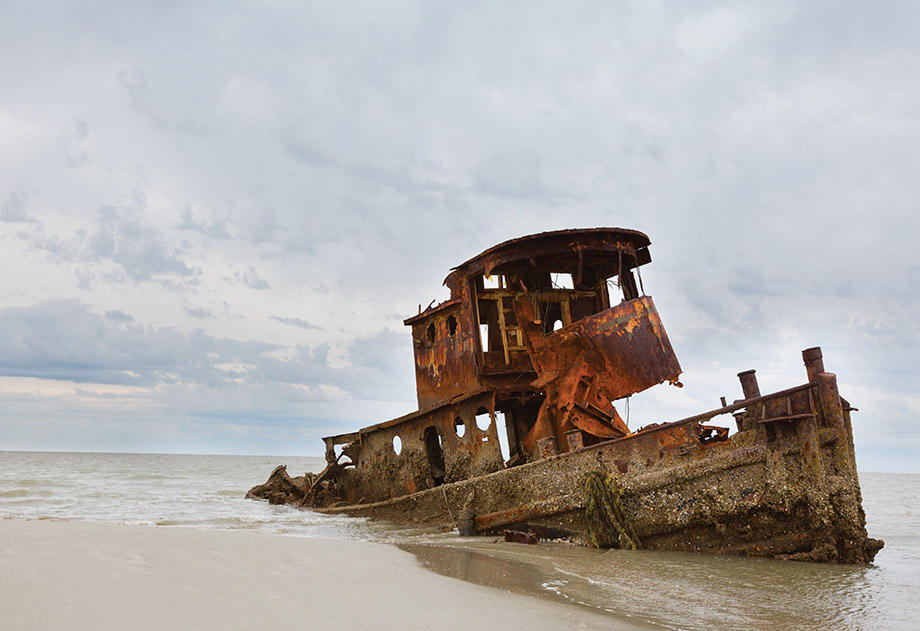 The Lodge On Little St Simons Island >> 37. Tugboat wreck, Little St. Simons Island - Atlanta Magazine