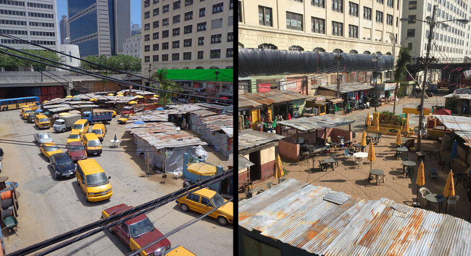 """The Gulch has been transformed into a market for """"Captain America: Civil War"""""""
