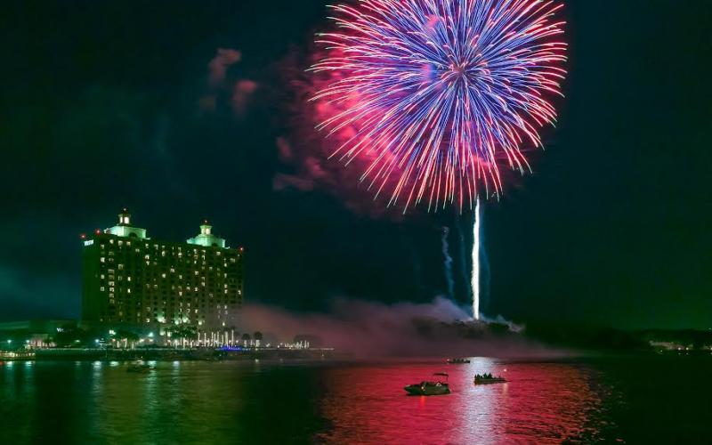 St Simons Island Fireworks