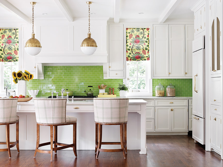 A playful color scheme cooks up a preppy vibe in this Druid Hills ...