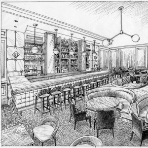 A rendering of Bar Margot