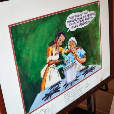 Leah Chase's life served as inspiration for the character Tiana in Disney's The Princess & the Frog.