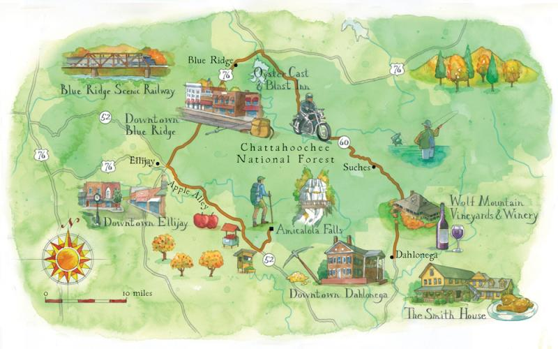 Road Trip North Georgia Mountains Atlanta Magazine - Map of north ga