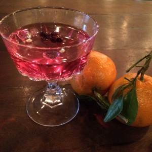 Hibiscus, ginger and baijiu